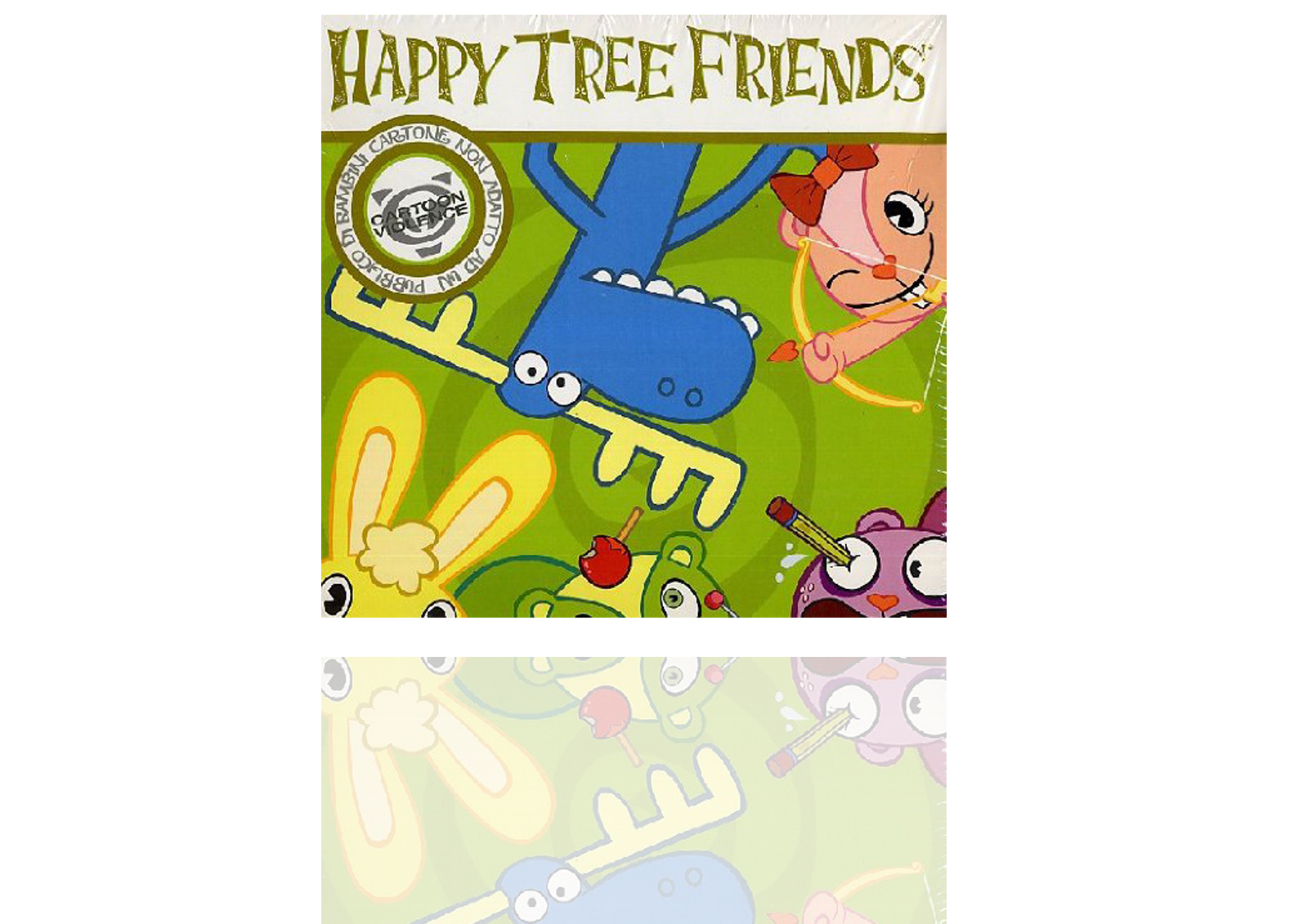 Mystery box, Happy Tree friends, 4 DVDS of which Christmas 1, t-shirt